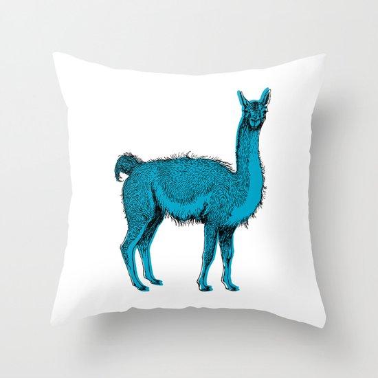 guanaco Throw Pillow
