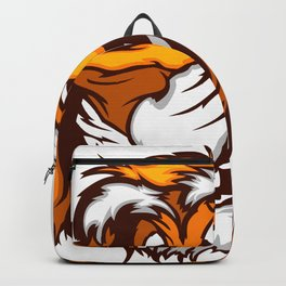 Image of a Happy Cute Tiger Mascot Backpack