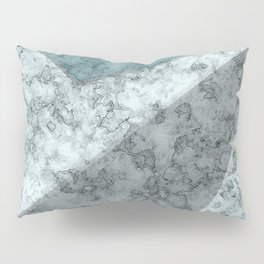 Combined abstract pattern .Green marble . Pillow Sham