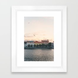 Danish Sunset Framed Art Print
