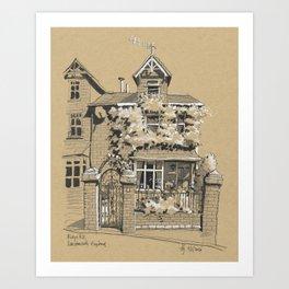 A House in Darthmouth, England Art Print