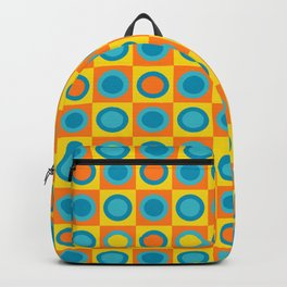 Retro Circle Pattern - Summer Backpack