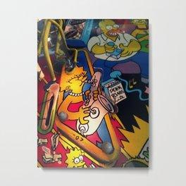 Cartoon Pinball Metal Print