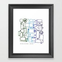 connected bottles Framed Art Print