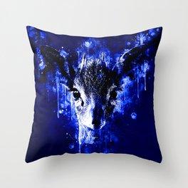 small dik-dik antelope portrait wsddb Throw Pillow