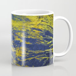 Classic Vintage Blue Faux Marble With Gold Veins Coffee Mug