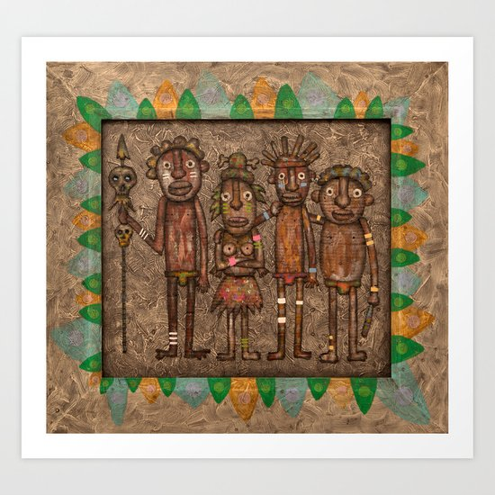 The cannibals Art Print