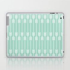 White Arrows on Mint Laptop & iPad Skin