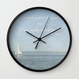 Adjust your sail Wall Clock