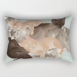 Big Ol' Pile of Cats Rectangular Pillow