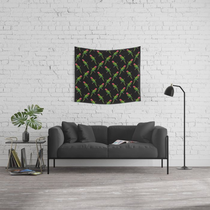 Parrot Pattern Wall Tapestry