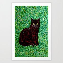 An Cat Dubh Art Print