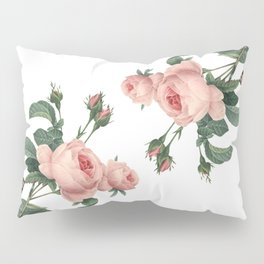 Butterflies in the Rose Garden on White Pillow Sham