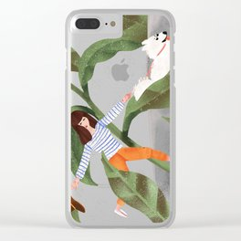 Going On A Walk Clear iPhone Case