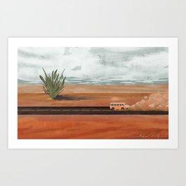 Aloe Desert Art Print