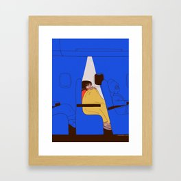 Fear of flying (4) Framed Art Print