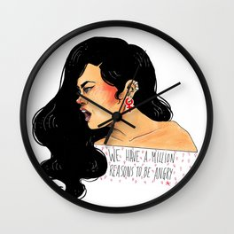 We have a million reasons to be angry Wall Clock