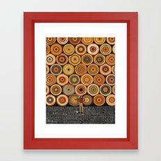 Timbers Vertical Framed Art Print