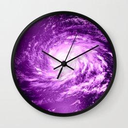 purple Hurricane Wall Clock