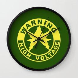 Warning High Voltage Wall Clock