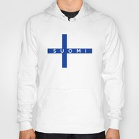 finland Hoodies featuring finland finnish country flag suomi name text by tony tudor