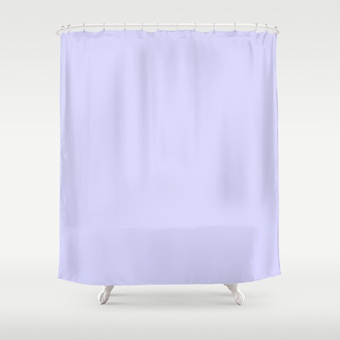 Simply Periwinkle Purple Shower Curtain