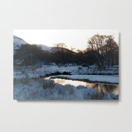 Snow on the hills Metal Print