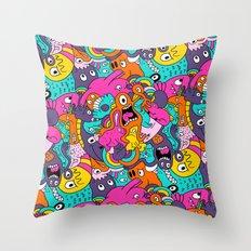 Jumble Bunny Throw Pillow