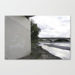 River + chalk Canvas Print