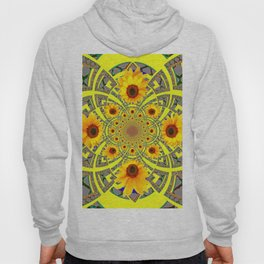YELLOW SUNFLOWER  ART MODERN ART PATTERN Hoody