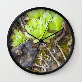 Vintage Garden Boots Wall Clock