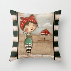 A Summer to Remember - by Diane Duda Throw Pillow