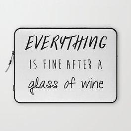 Fine with Wine Laptop Sleeve