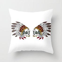 Geronimo's Head Throw Pillow