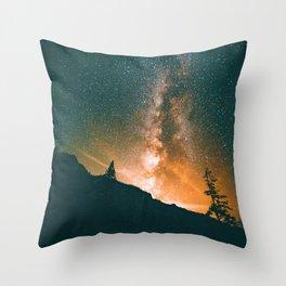 Galaxy Sky (Color) Throw Pillow