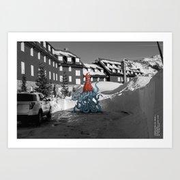Unseen Monsters of Mount Shasta - Quidi Kallagoo Art Print