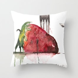 Straight For The Knife  Throw Pillow