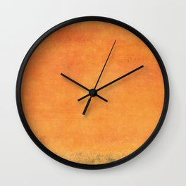 Minimal Orange Abstract Colorfield Painting  01 Wall Clock