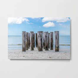 Pillar Beach Metal Print