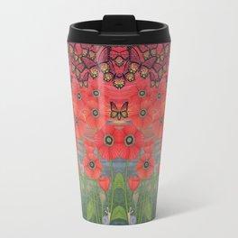 red sky, butterflies, poppies, & snails Travel Mug