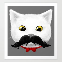the mouse-tache Art Print