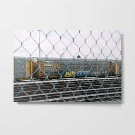 Chain Linked Metal Print
