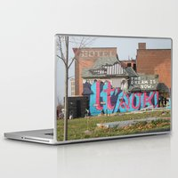 detroit Laptop & iPad Skins featuring Detroit by Dylan McPhee