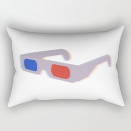 Retro 3D Glasses - Blue and Red Rectangular Pillow