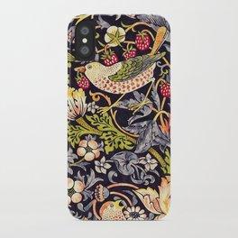 William Morris Strawberry Thief Art Nouveau Painting iPhone Case