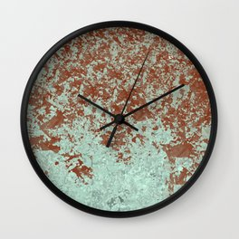 Wine Stain on Green Wall Clock