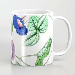 A Purging Pharbitis Vine in full blue and purple bloom - Vintage illsutration Coffee Mug