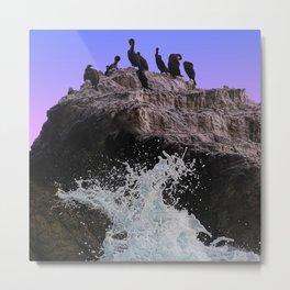 Out Of Danger: Bird Rock Metal Print