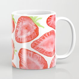 Watercolor strawberry slices pattern Coffee Mug