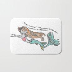 Mermaid Quote Bath Mat